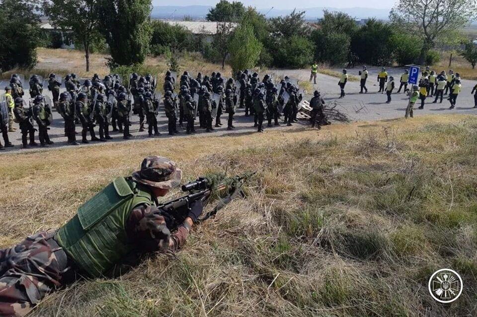 Совместные учения венгерских и украинских военных в Косово
