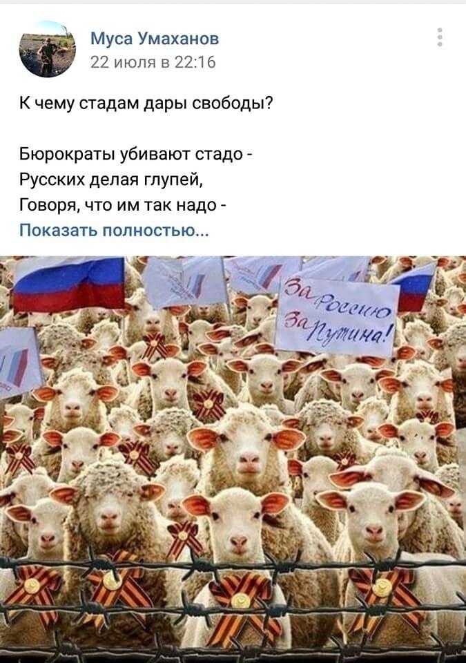 Недовольство оккупанта путинской властью России