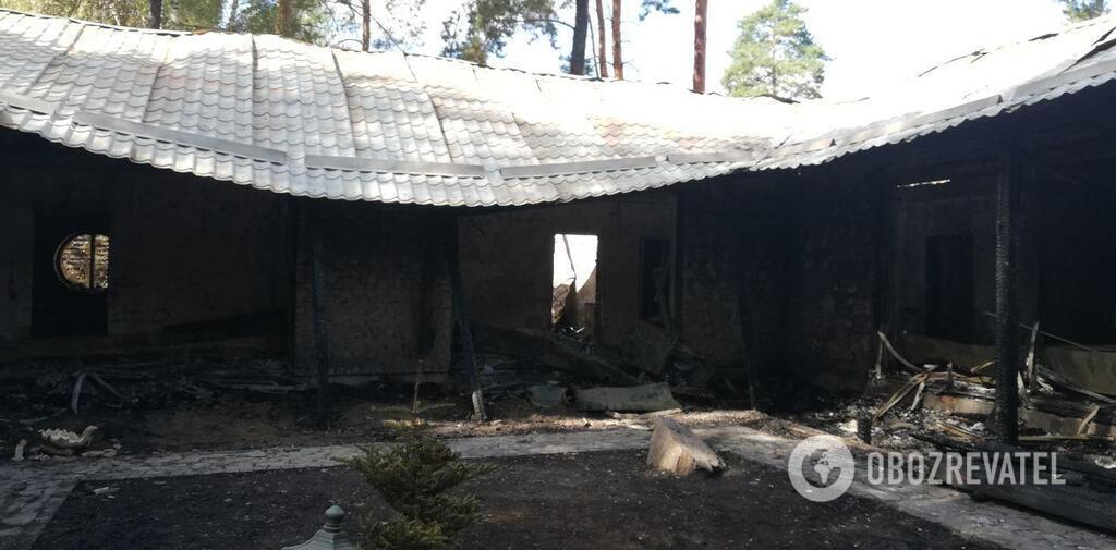 Сгоревший дом Гонтаревой