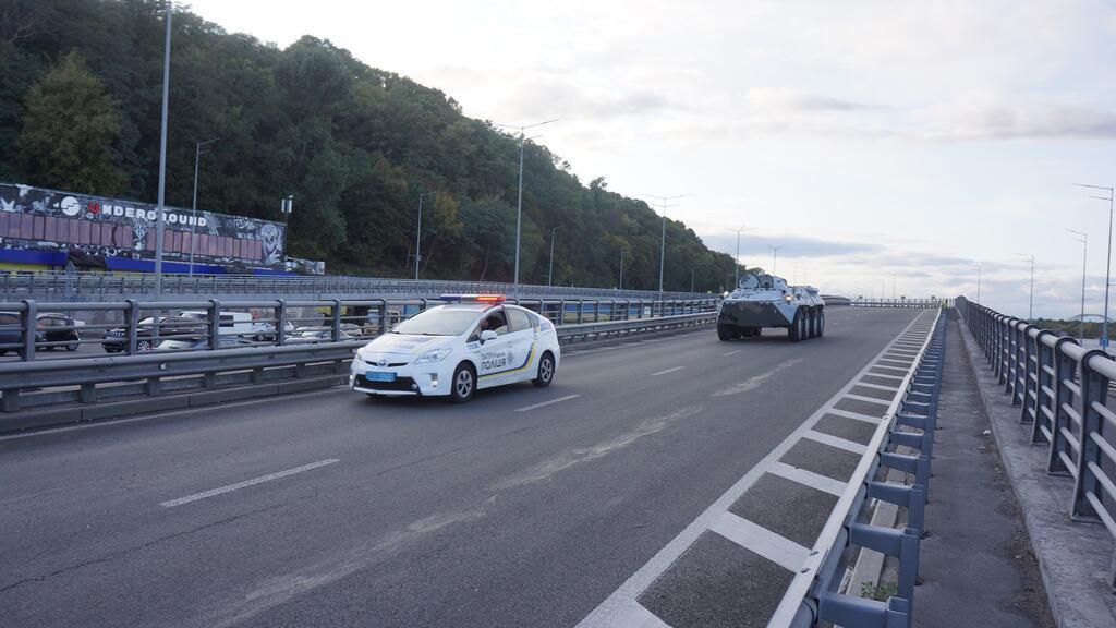 Стрельба на мосту Метро в Киеве