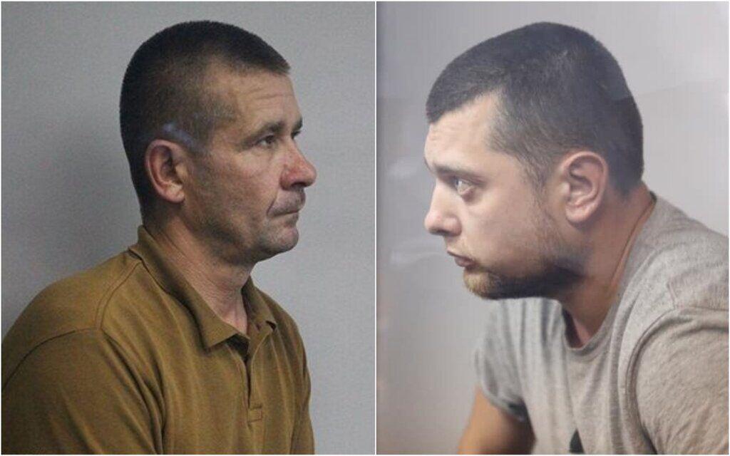 Підозрювані копи Володимир Петровець (ліворуч) та Іван Приходько
