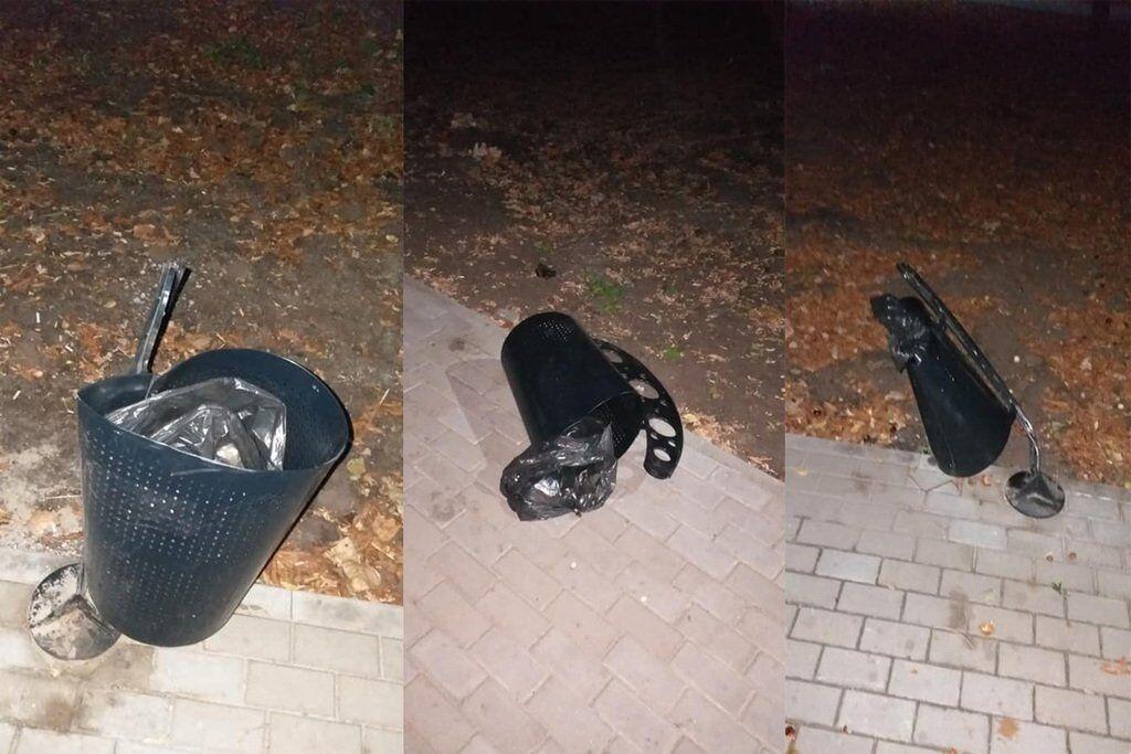 В Днепре вандалы крушили новый парк Гагарина: фото