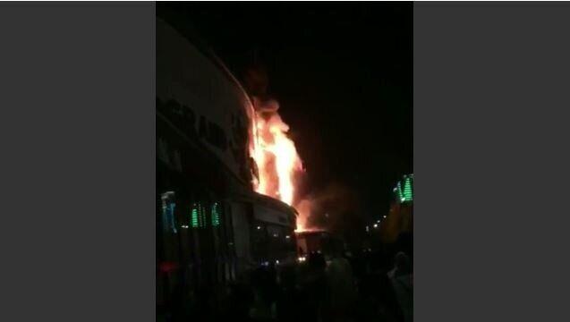 В Чечне загорелся крупнейший ТРЦ