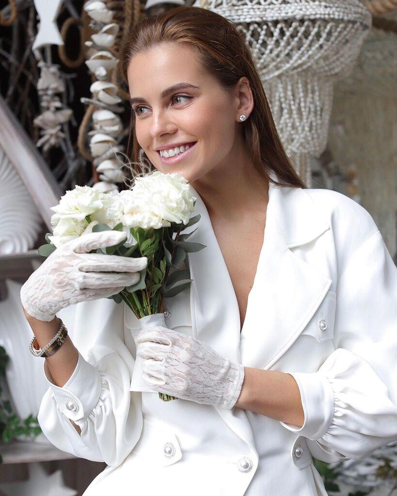 Дарья Клюкина в день свадьбы