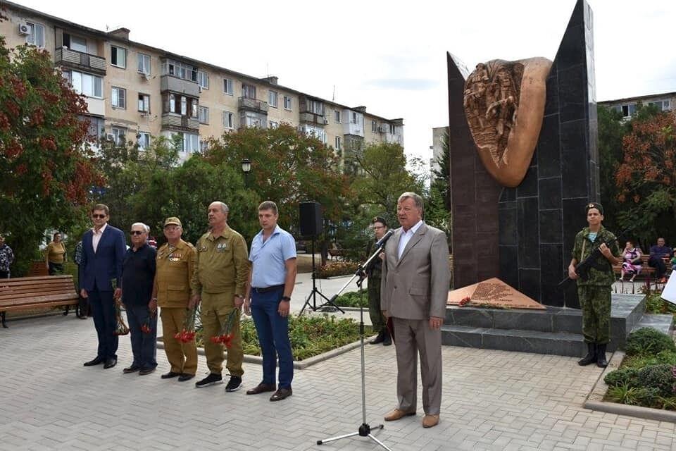 Відкриття пам'ятника на честь окупації інших країн СРСР