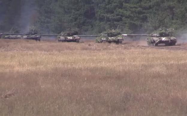 Навчання танкістів ЗСУ в зоні ООС