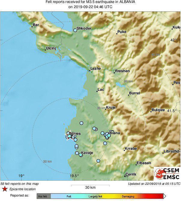 В Албании произошло самое сильное за 30 лет землетрясение