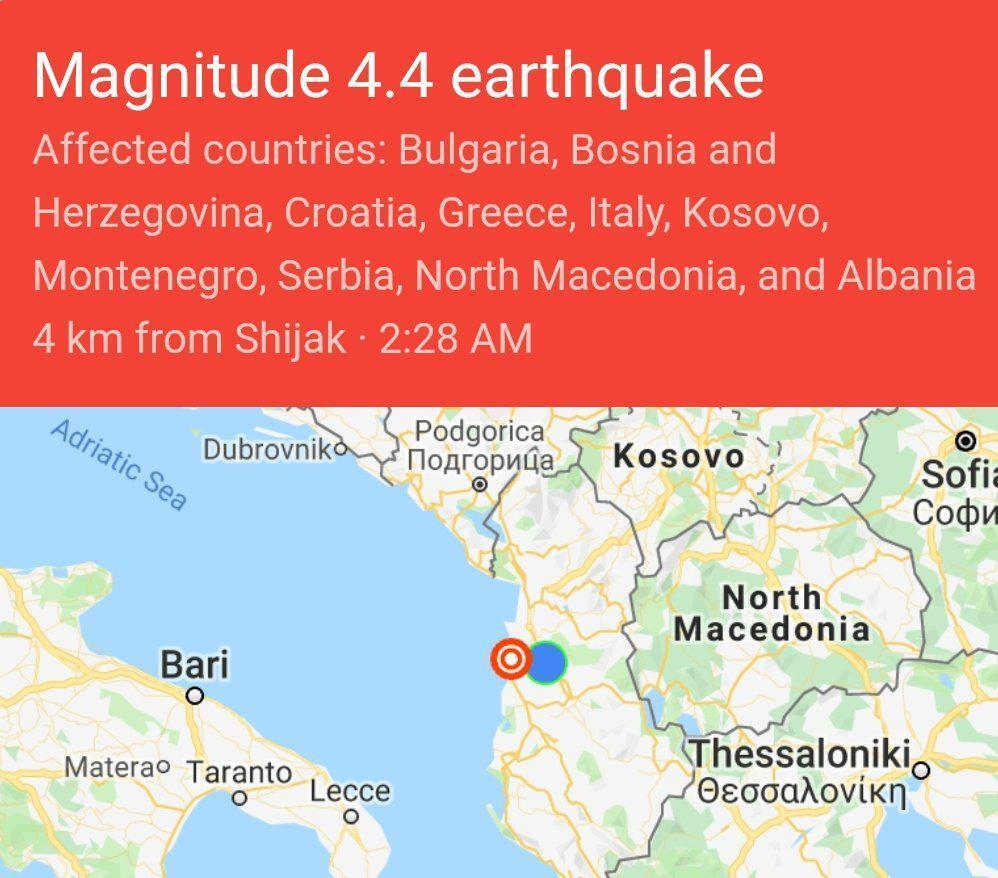 Албанию смяло мощное землетрясение