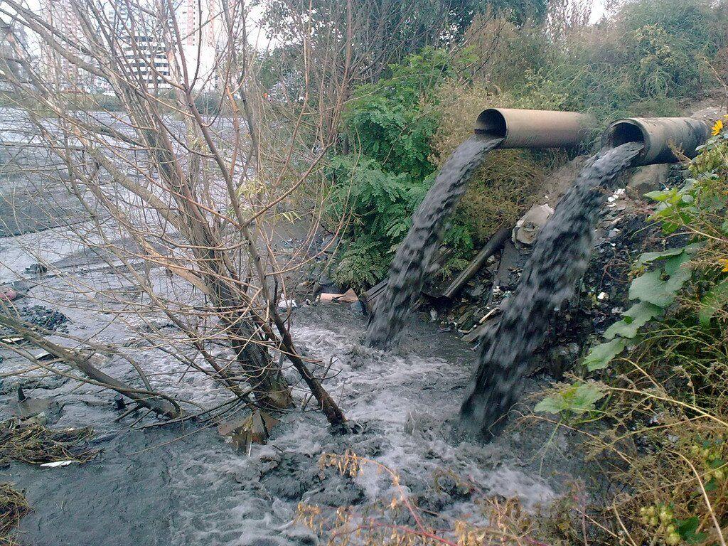 Скидання токсичних відходів в озеро Гарячка
