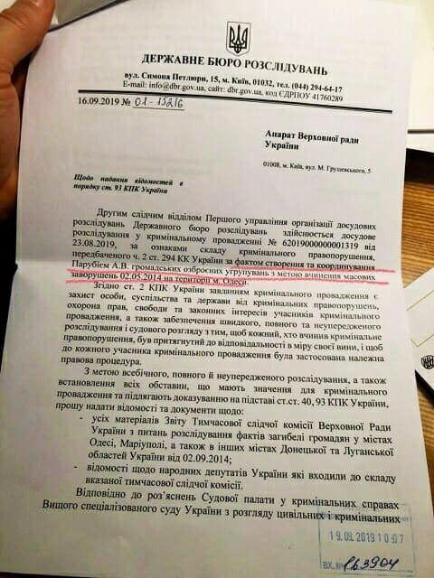 Документ ГБР
