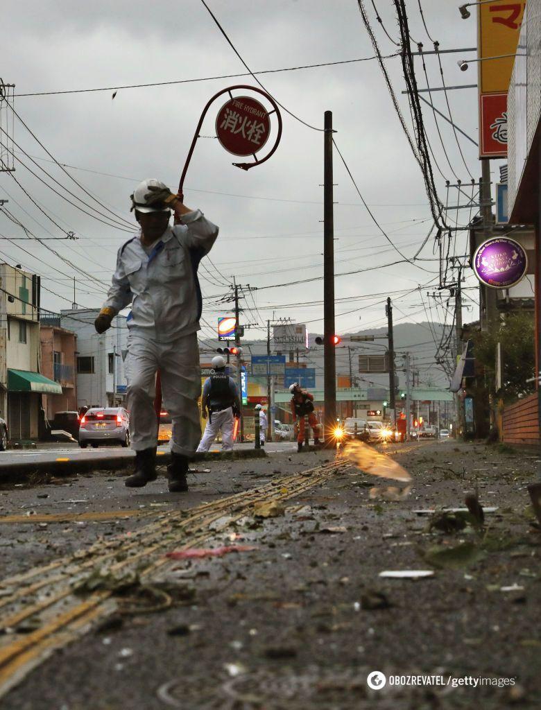 "Тайфун ""Тапа"" в Японії"