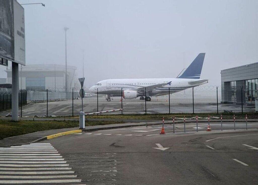 Смог на території злітної смуги аеропорту