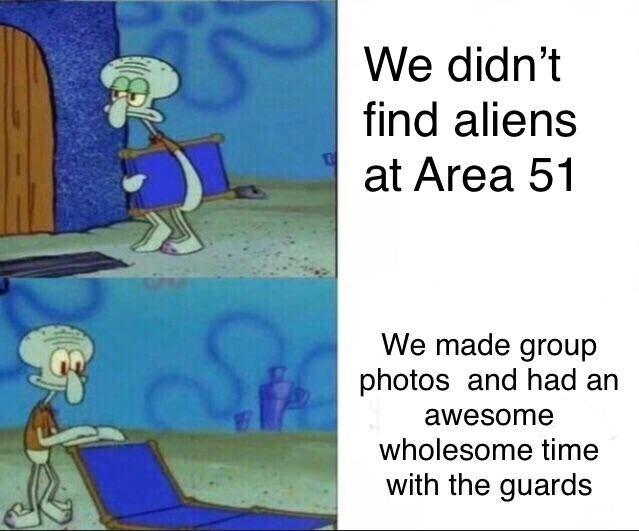 """""""Мы не нашли в Зоне 51 пришельцев - Зато наделали фотографий и хорошо провели время с охраной"""""""