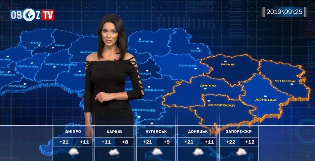 В Україні трохи потеплішає: прогноз на 25 вересня від ObozTV