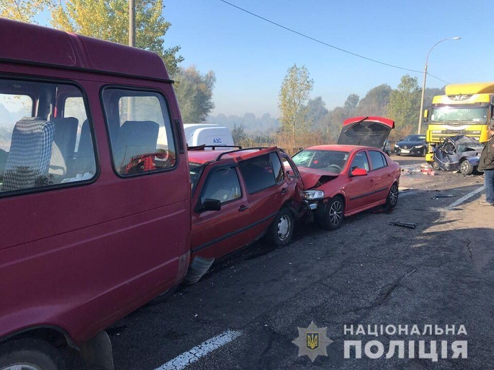 У ДТП у Броварах потрапили майже десять авто