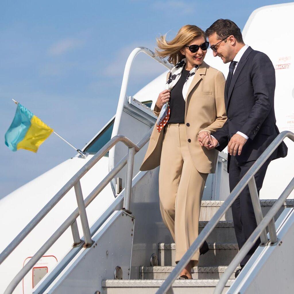 Елена и Владимир Зеленские в США