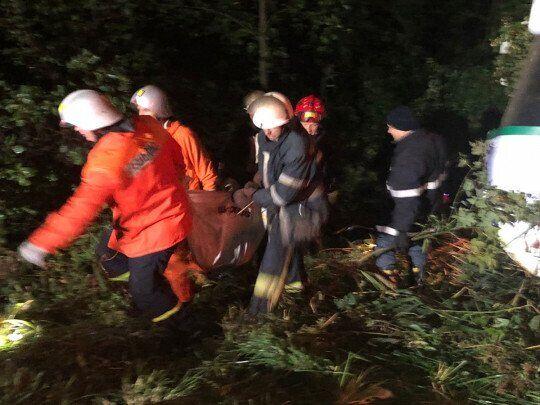 Рятувальники виносять постраждалих у жахливій аварії