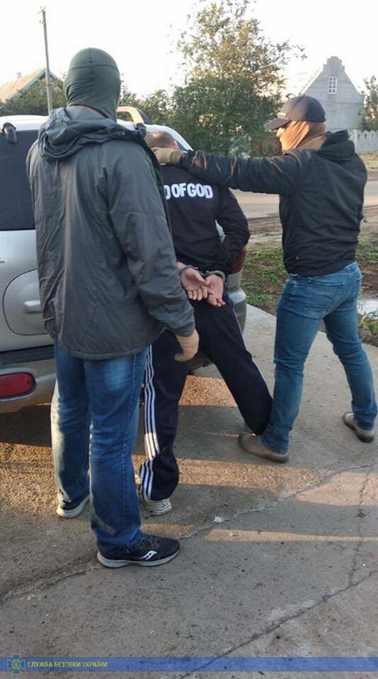 Затримання агітатора в Одесі