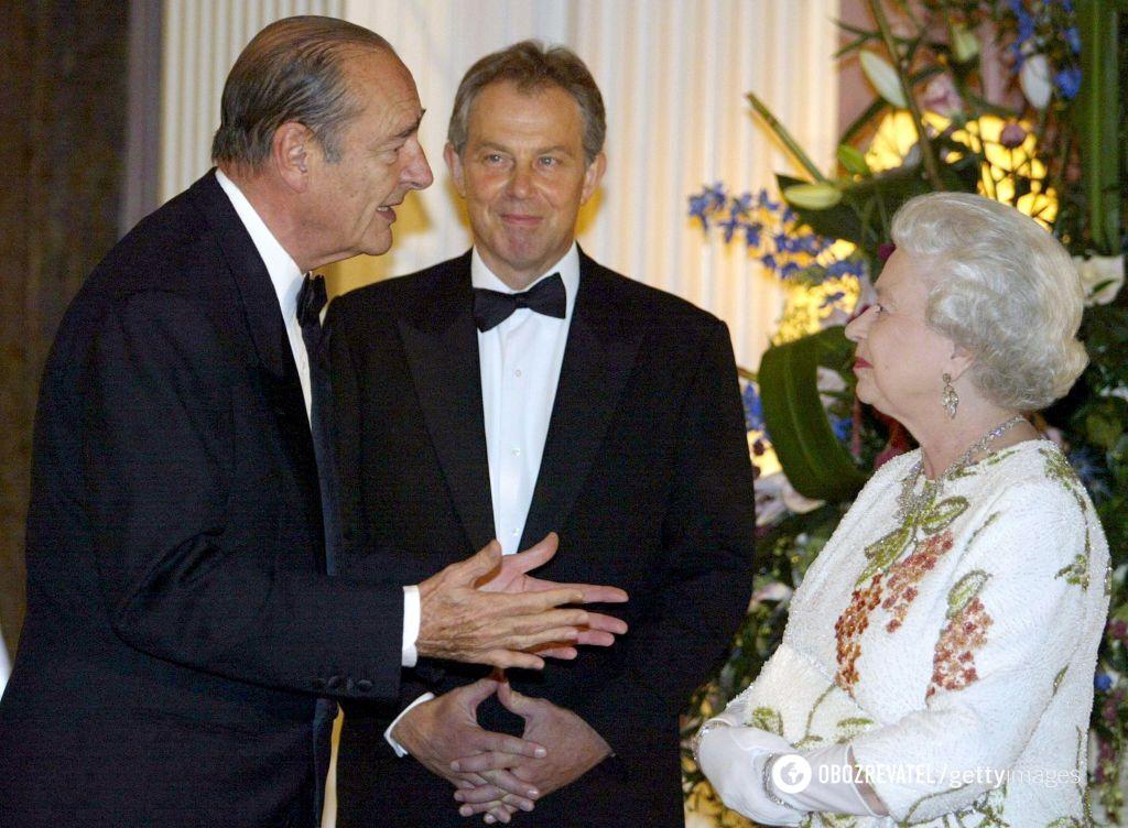 Жак Ширак, Тони Блэр и Елизавета II