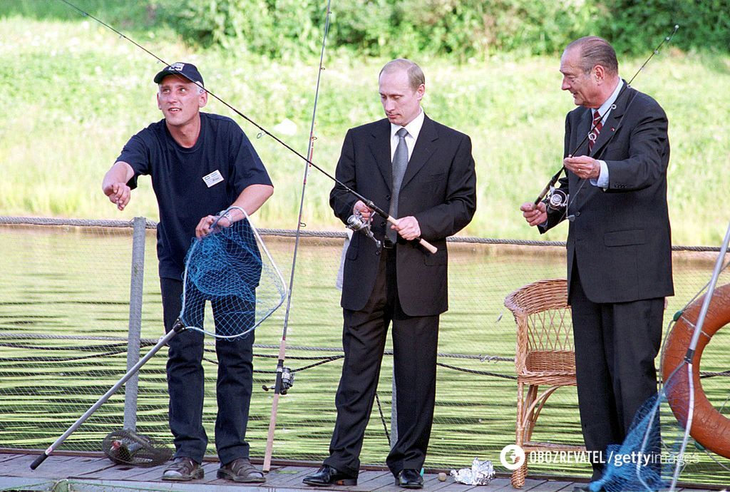 Жак Ширак и Владимир Путин