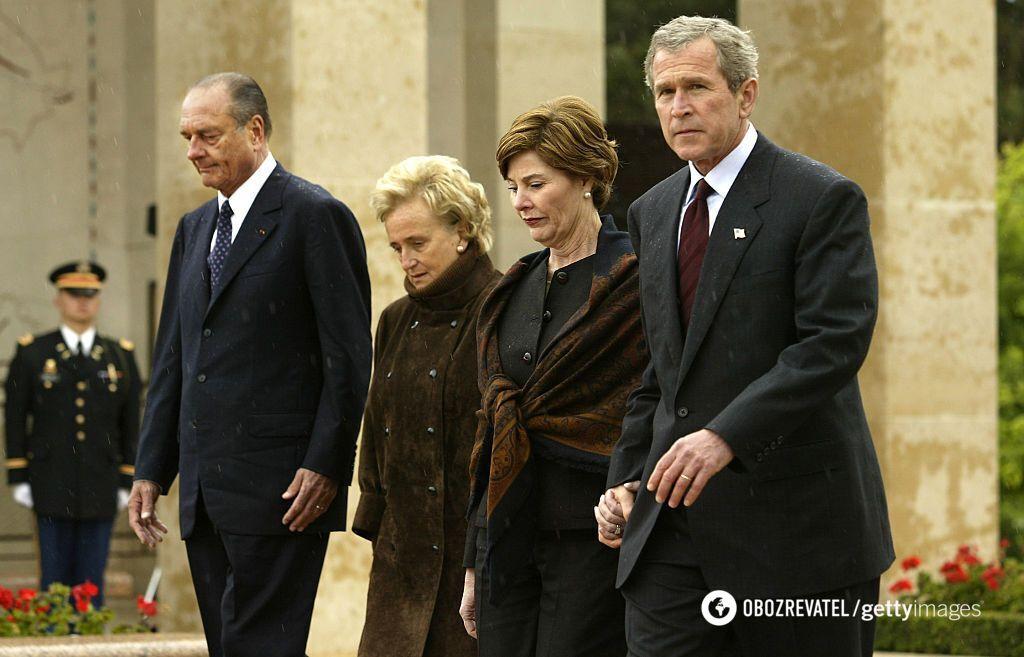 Жак Ширак и Джордж Буш мл.