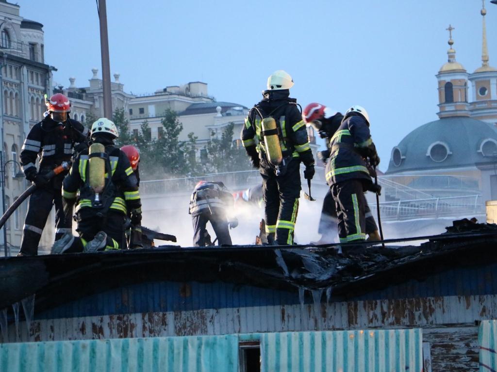 Пожежа в Києві на Подолі