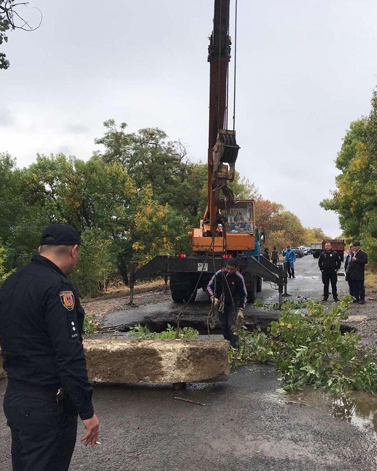 В Одесской области обвалился мост