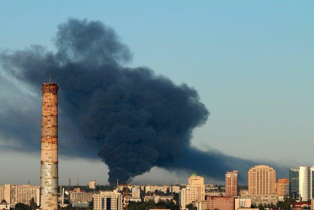 Пожежа в Донецьку 25 вересня