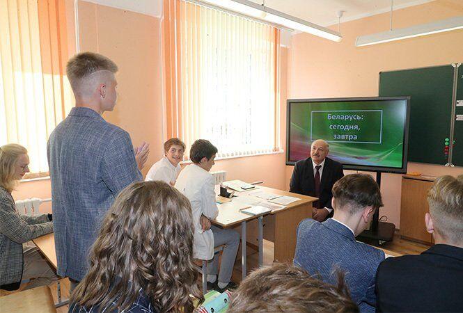 Олександр Лукашенко зустрівся зі школярами