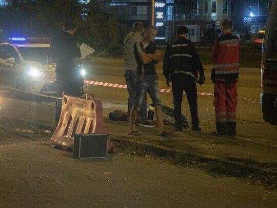 На месте убийства молодого водителя на Окружной в столице