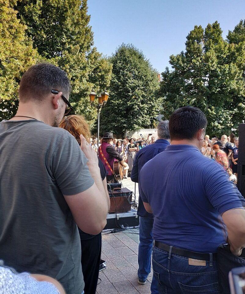 Глядачі на концерті Гребенщикова у Вінниці