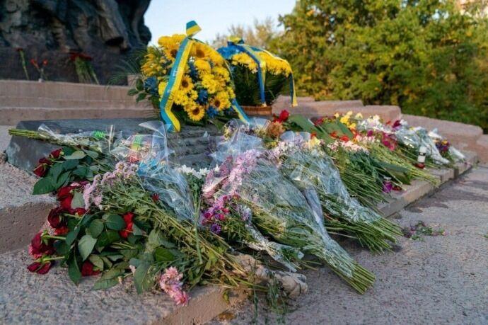 Владимир Зеленский посетил Бабий Яр ближе к вечеру 29 сентября