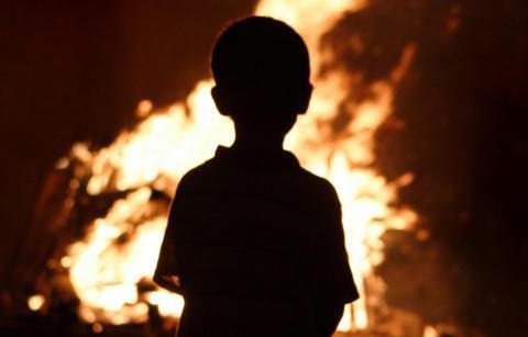 В Черкасской области ребенок поджег сестру (иллюстрация)