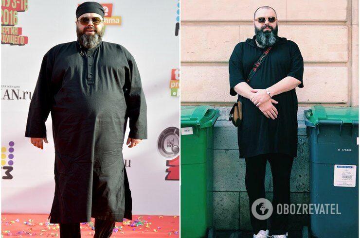 романе до и после похудения