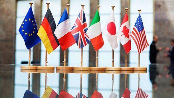 Прапори країн Великої сімки
