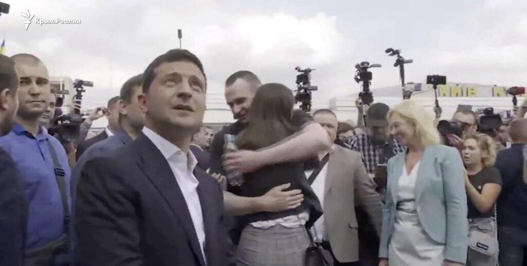 Володимир Зеленський під час зустрічі в Борисполі