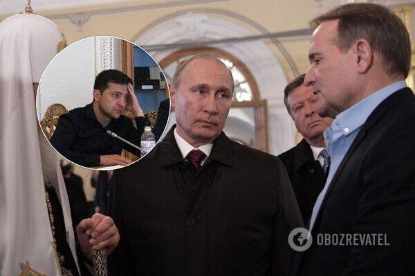 Виктор Медведчук, Владимир Зеленский и Владимир Путин