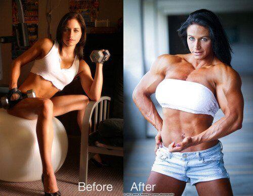 Тереза Іванчик (до і після курсу стероїдів)
