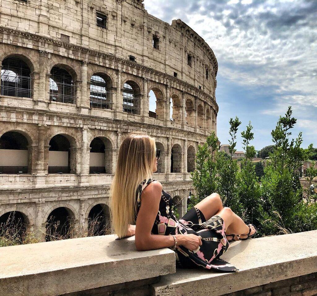 Анжелика Терлюга и римский Колизей