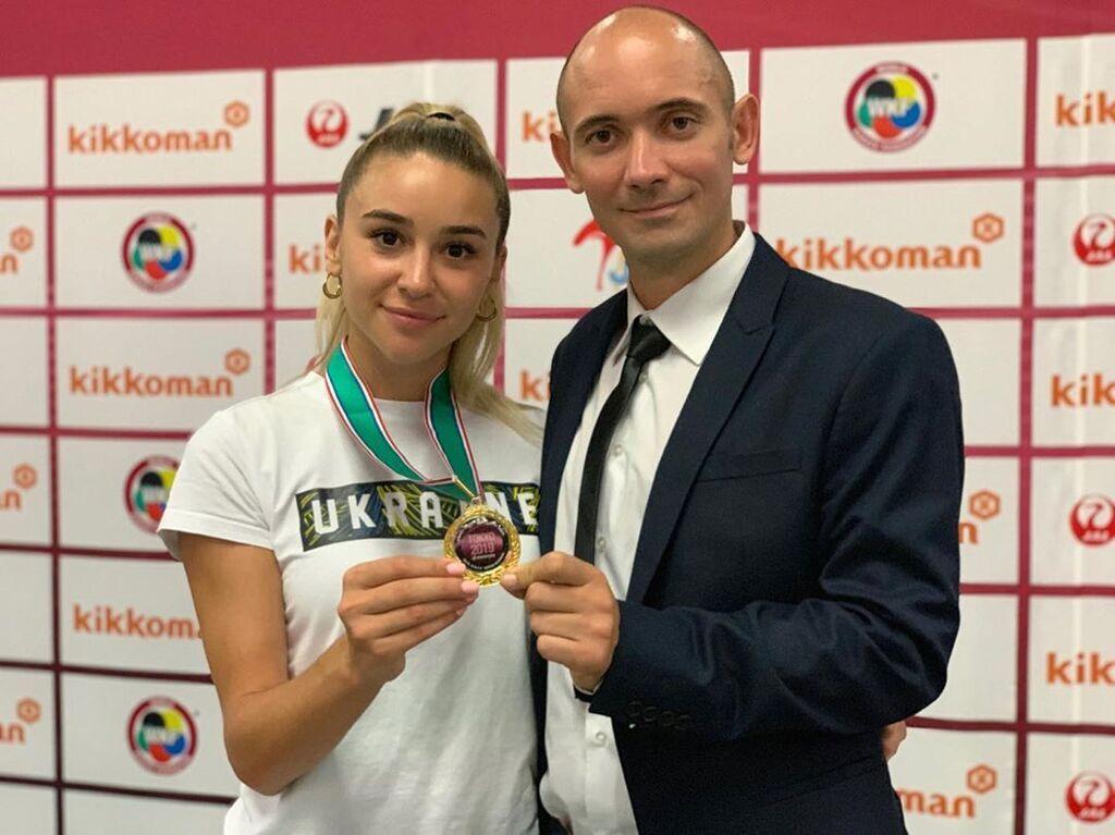 Анжелика Терлюга и ее тренер Денис Морозов
