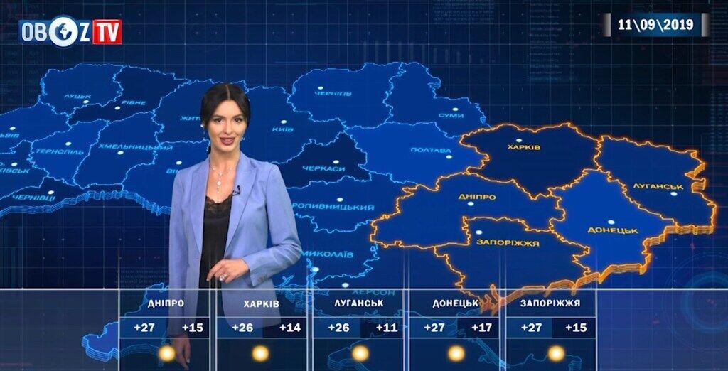 Чим потішить погода 11 вересня: прогноз по Україні від ObozTV
