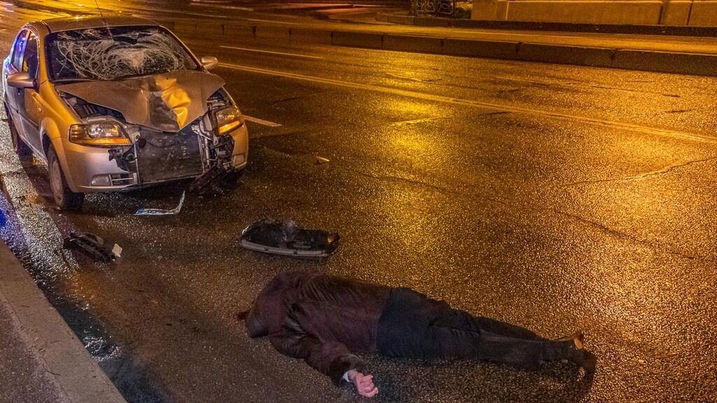 На Слобожанському проспекті збили чоловіка