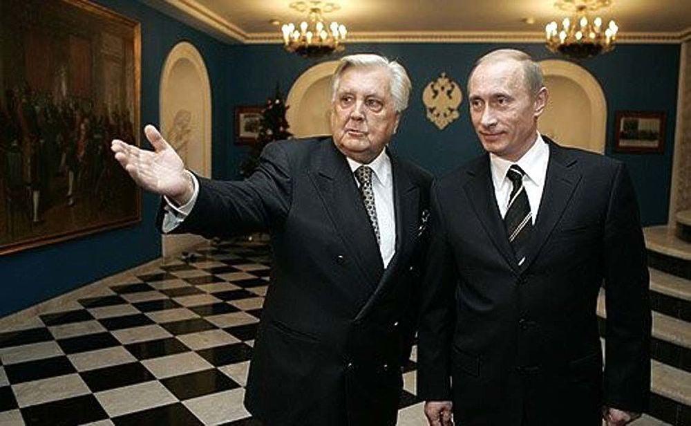 З керівником академії Іллею Глазуновим. 2006 р.
