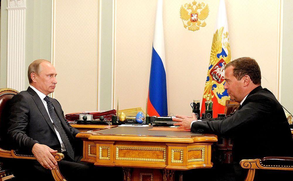 Із головою уряду Дмитром Медведєвим. 2014 р.