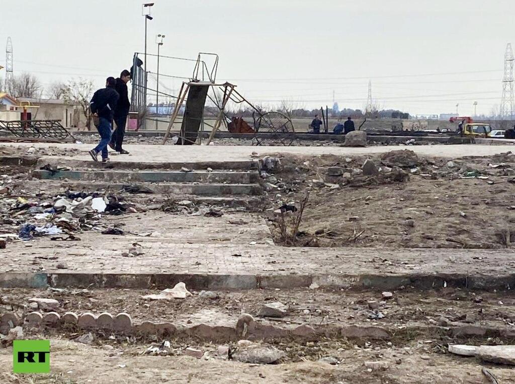 Парк Лале в Тегеране, куда упал украинский Boeing