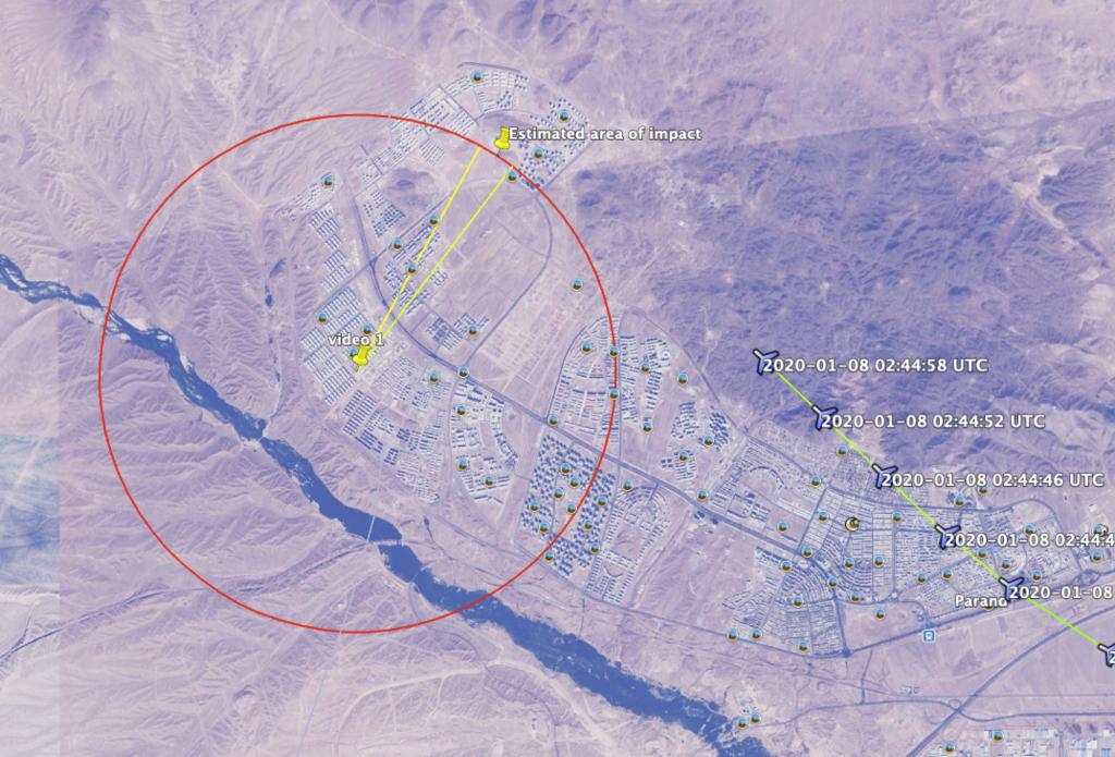 Моменты взрыва и падения PS752 слили в сеть: подлинность подтверждена