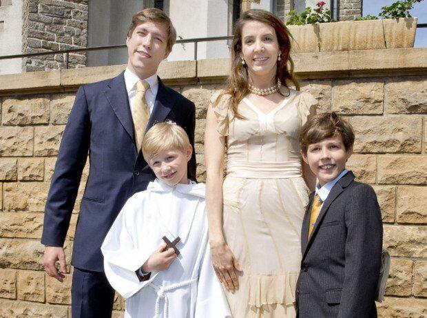 Принц Луи Люксембургский с семьей