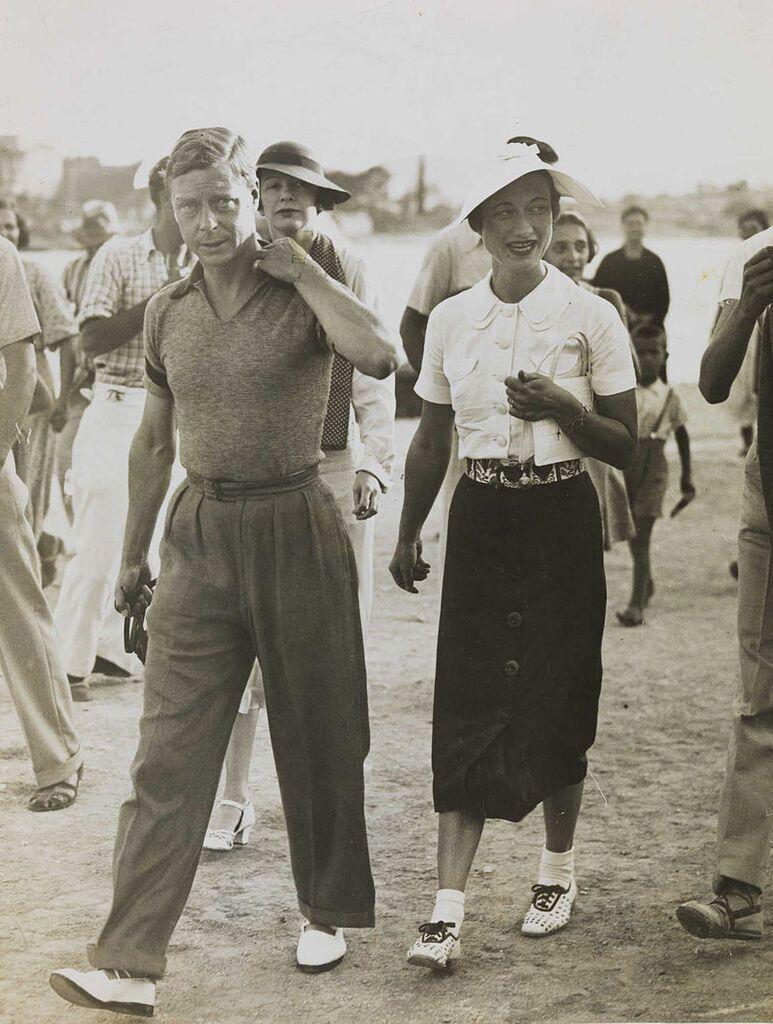 Король Эдуард VIII и Уоллис Симпсон в отпуске на балканском побережье Средиземного моря, 1936
