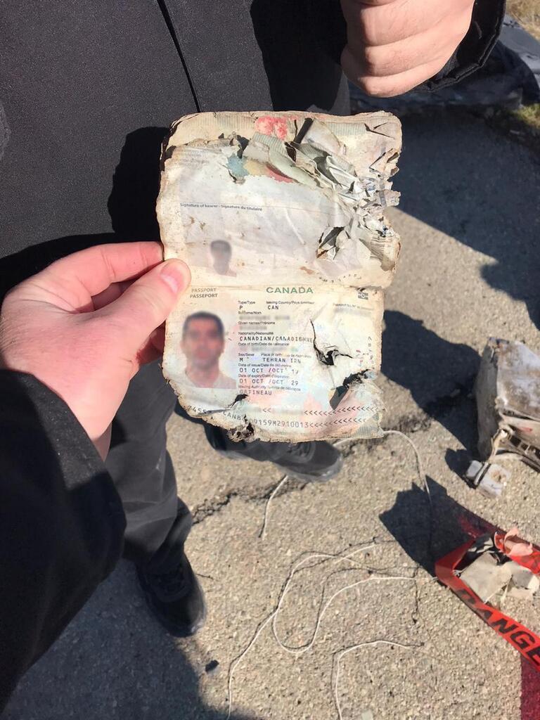 Появились фото первых улик в деле о крушении самолёта МАУ в Иране