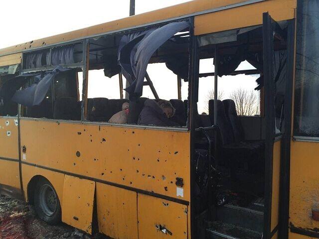 Десять пасажирів автобуса були вбиті на місці